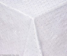 Twinkle Embellished White Linen