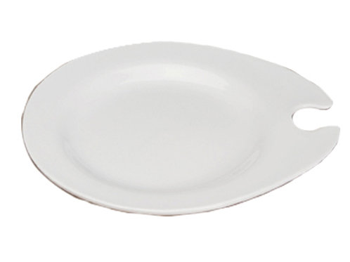 Cocktail Plate with Stemware Holder