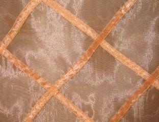 Sheer Organza Lattice Harlequin Copper Linen