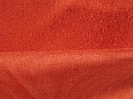 Solid Poly Burnt Orange Linen