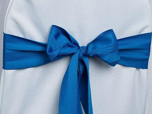 Poly Stripe Royal Blue Chair Sash