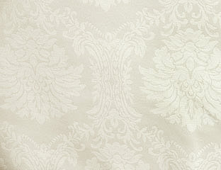 Wellington Damask Pattern Ivory Linens