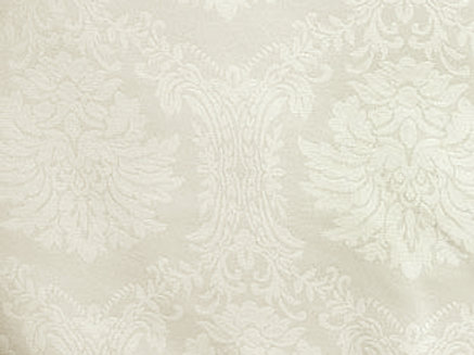 Wellington Damask Pattern Ivory Linens
