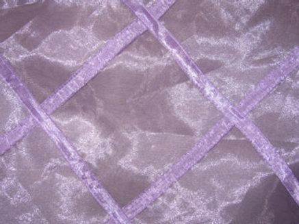 Sheer Organza Lattice Harlequin Violet Linen