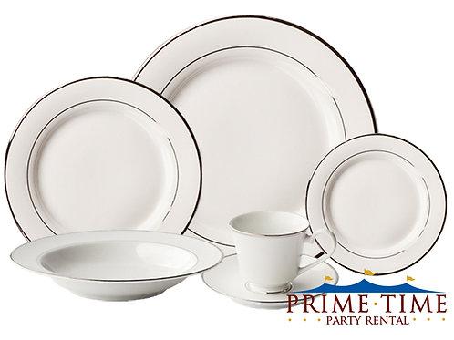 White Silver Rim China
