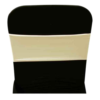 Spandex Ivory Chair Band