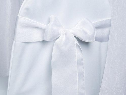 Organza White Sash