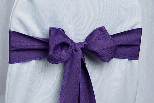 Poly Stripe Purple Chair Sash