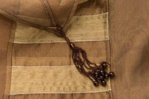 Coffee Stripe Classique Brown Linen