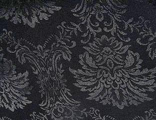 Wellington Damask Pattern Black Linens