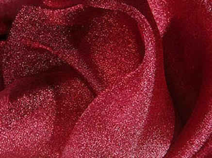 Shimmer Organza Burgundy Linens