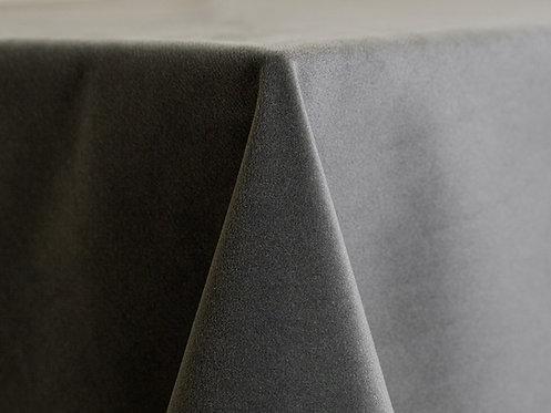 Velvet Smoke Grey Green Linens