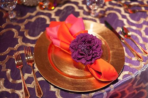 Purple Peony Flower Clip