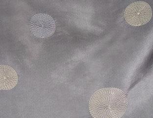 Circle Taffeta Silver Linen