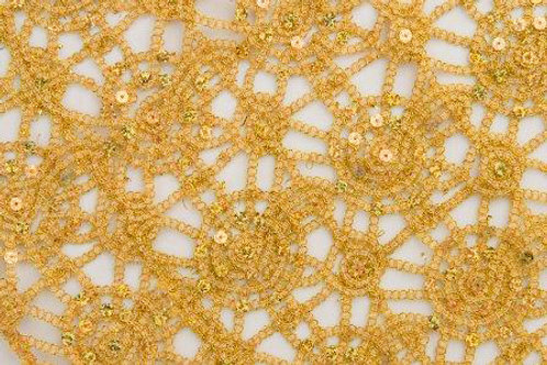 Libby Crochet Chain Gold Linen