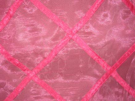 Sheer Organza Lattice Harlequin Fuchsia Linen