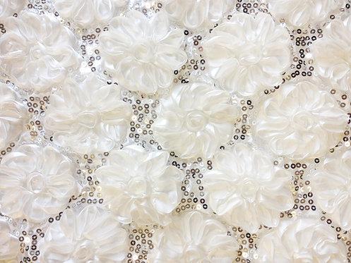 Shiny Rose Petals White Linens