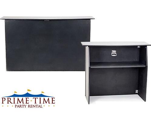 Portable Folding Bar Black Formica