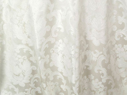 Beethoven Antique White Damask Linen