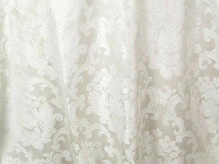 Beethoven Antique White Damask Linen