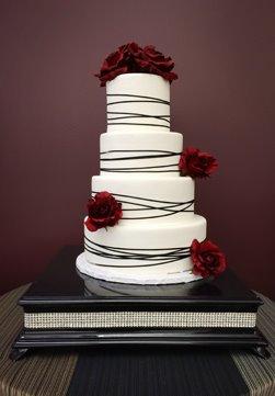 Diamond Cake Stand Black Square
