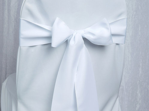 Poly White Chair Sash