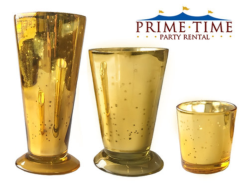 Gold Mercury Glass Vase