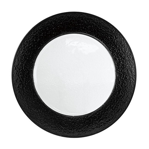Black Rim Textured Glass Charger