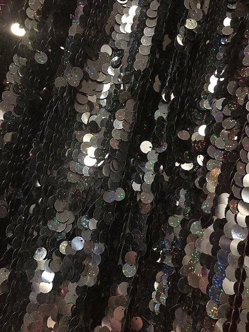 Black Sequin Sheer Specialty Drape Panel