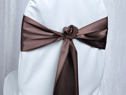 Satin Brown Chair Sash