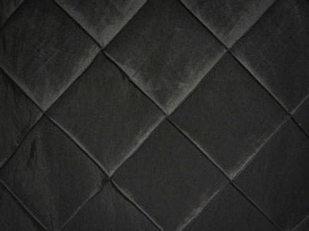 Pintuck Taffeta Black Linens