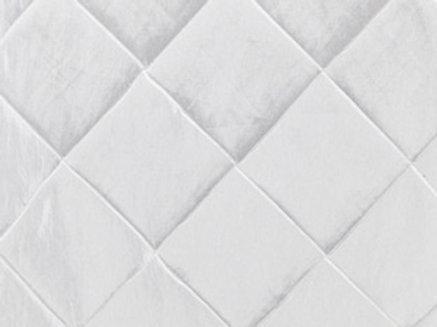 Pintuck Taffeta White Linens