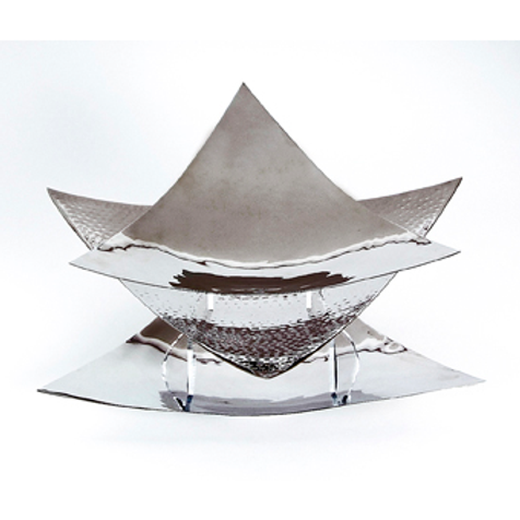 Triangle Silver Hammered Platter