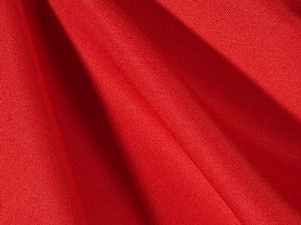 Solid Poly Cherry Red Linen