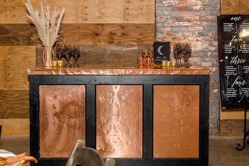 Hammered Copper Portable Bar