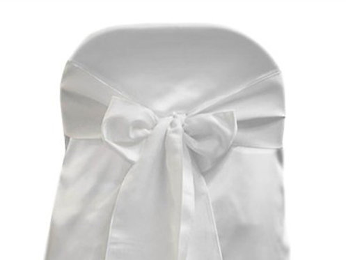 Lamour White Chair Sash