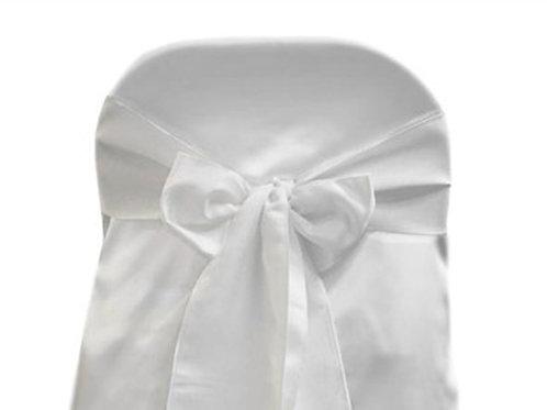 Lamour White Chair Sash