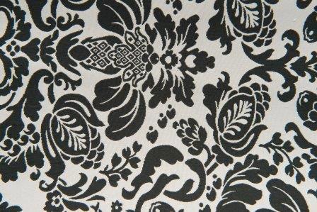 Barclay Black & White Scroll Damask Linens