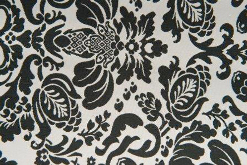 Barclay Black & White Scroll Damask Linens