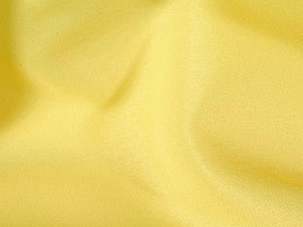 Solid Poly Lemon Linen