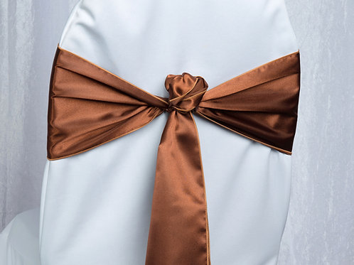 Satin Copper Chair Sash