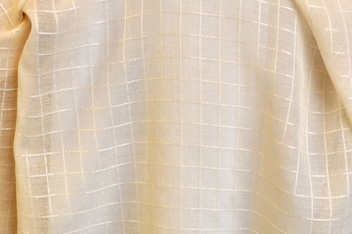 Savannah Champagne Square Ivory Linen