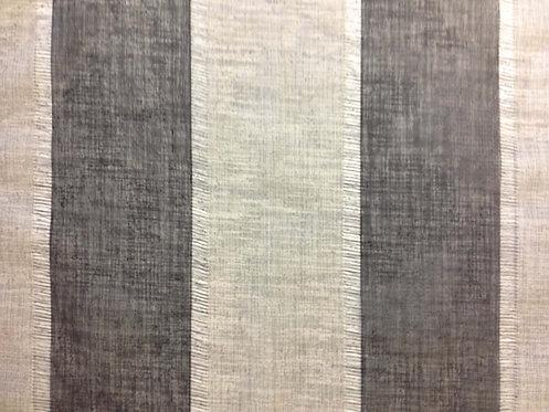 Linen Stripe Black & Grey Linen
