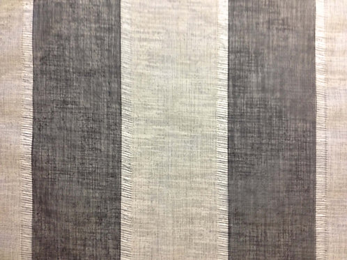 Linen Stripe Black & Grey Linen