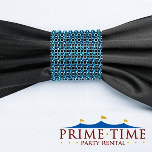Royal Blue Mesh Rhinestone Ring