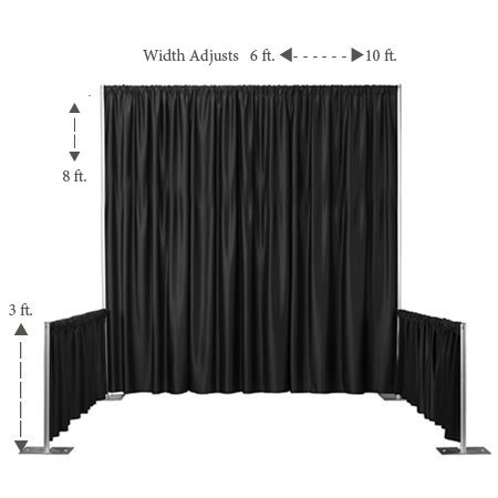 Convention Booth Pipe and Drape Kit