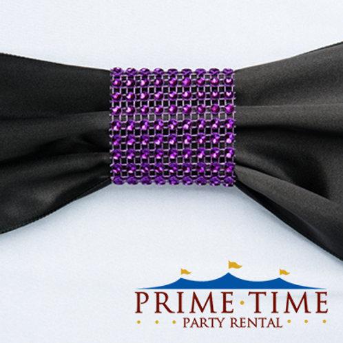 Purple Mesh Rhinestone Ring