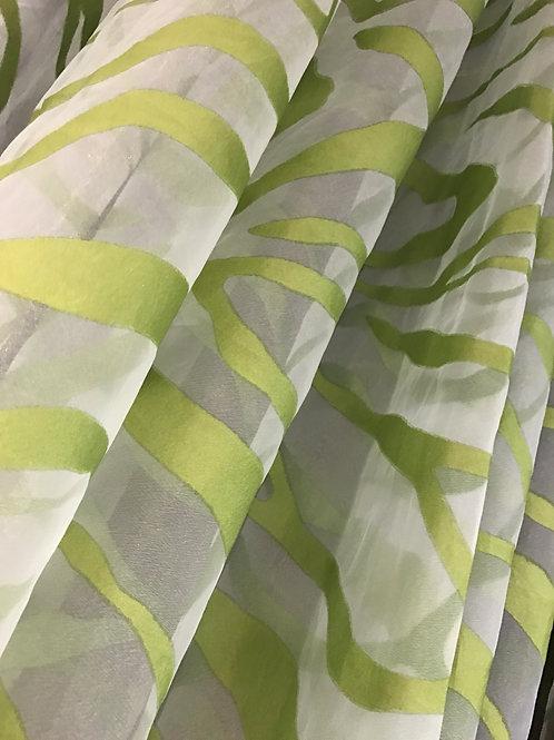 Organza Jungle Sheer Specialty Drape Panel 12'