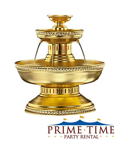 Gold Aluminum Beverage Fountain 3 gallon