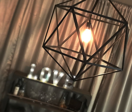 Orbit Geometic Industrial Edison Bulb Chandelier